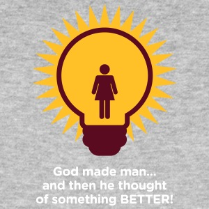 God Created Adam & Eve.And Then Something Better! - Mannen Bio-T-shirt