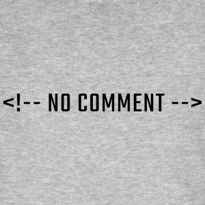 NO COMMENT - HTML uppercase - Men's Organic T-shirt