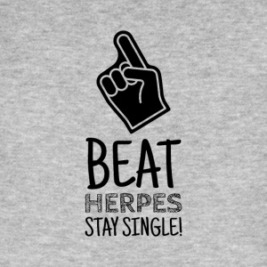 Stay Single - Fight Herpes - Männer Bio-T-Shirt