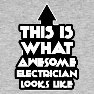 Elektriker: This is what awesome electrician looks - Männer Bio-T-Shirt