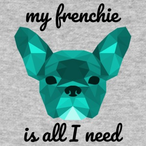 Low Poly Frenchie cyan - Men's Organic T-shirt