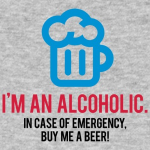 I'm An Alcoholic. For Emergencies I Have Beer! - Men's Organic T-shirt