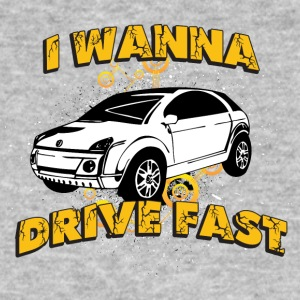 I wanna drive fast small ugly car - Men's Organic T-shirt
