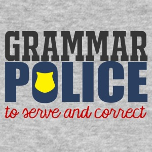 Polizei: Grammar Police to serve and correct - Männer Bio-T-Shirt
