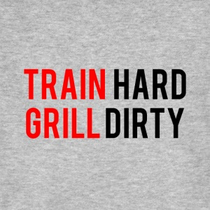 TRAIN HARD GRILL DIRTY - Men's Organic T-shirt