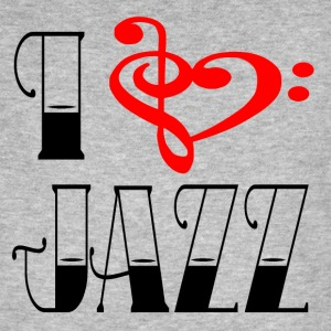 I love jazz - Mannen Bio-T-shirt