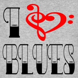 I LOVE BLUES - Økologisk T-skjorte for menn