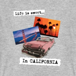 Life is sweet in California, poster travel t shirt - Men's Organic T-shirt