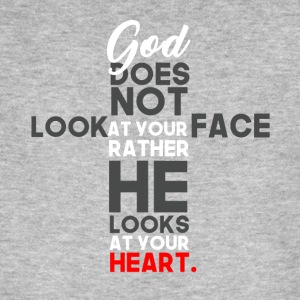God Prefers Heart over Facebook - Men's Organic T-shirt