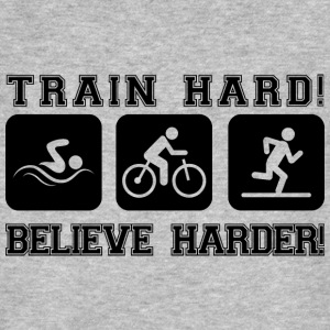 Train Hard! Believe Harder! - Männer Bio-T-Shirt