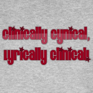 clinically cynical, lyrically clinical! - Men's Organic T-shirt