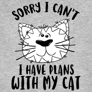 SORRY I CAN´T I HAVE PLANS WITH MY CAT - Männer Bio-T-Shirt