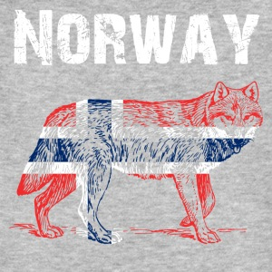 Nation-Design Norway Loup - T-shirt bio Homme