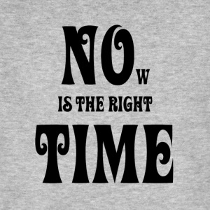NOW IS THE RIGHT TIME — NO TIME, black - Männer Bio-T-Shirt