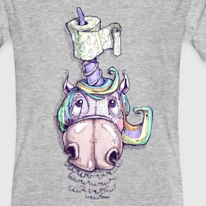 Unicorn with toilet paper - Men's Organic T-shirt