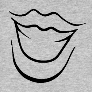 Laughing Mouth - Mannen Bio-T-shirt