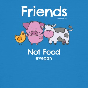 Friends Not Food TShirt for Vegans and Vegetarians - Men's Organic T-shirt