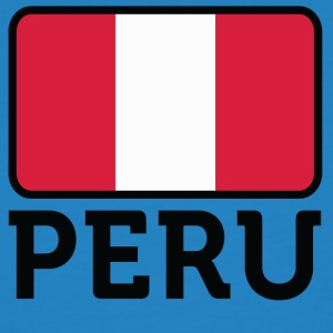 National Flag Of Peru - Økologisk T-skjorte for menn