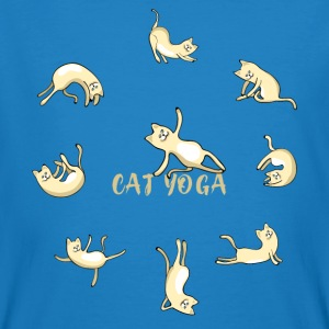 cat yoga chat namaste mignon méditation om lotu - T-shirt bio Homme