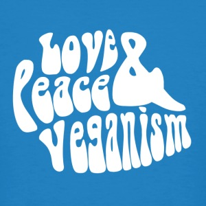 Love Peace & veganisme - Økologisk T-skjorte for menn