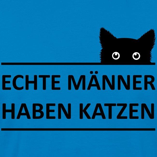 Vorschau: Echte Männer haben Katzen - Männer Bio-T-Shirt