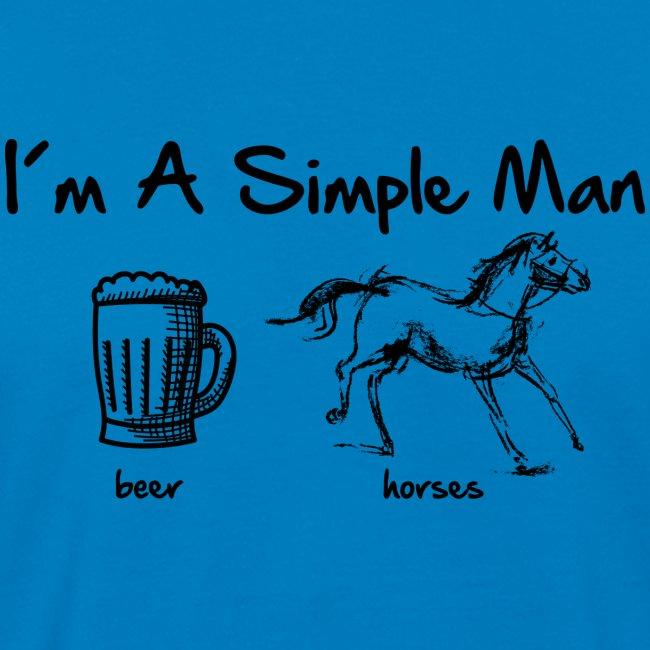 Vorschau: simple man pferd - Männer Bio-T-Shirt