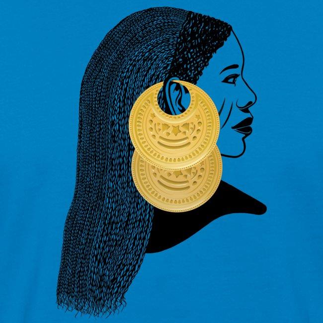 Girl with القمر بوبا earrings