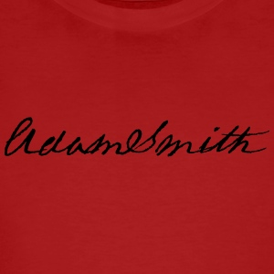 Adam Smith signature 1783 - Men's Organic T-shirt