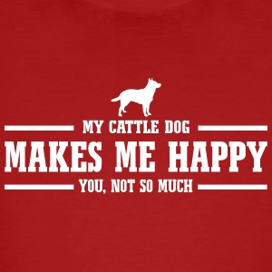 CATTLE DOG makes me happy - Men's Organic T-shirt