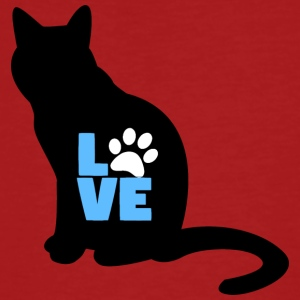 noir chat dans la conception LOVE - T-shirt bio Homme