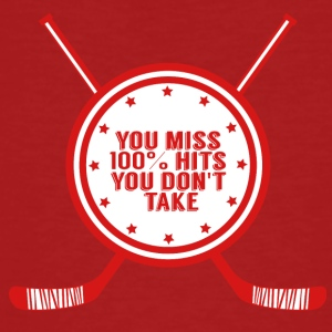 Hockey: You miss 100% hits you don't take - Men's Organic T-shirt