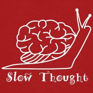 Slow Thought (wit) - Mannen Bio-T-shirt