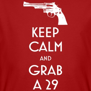 Keep Calm and Grab a 29 revolver t-shirt - Men's Organic T-shirt