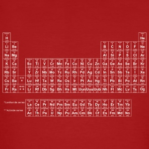 Periodic Table wit - Mannen Bio-T-shirt