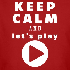 Keep Calm And Let's Play - Männer Bio-T-Shirt