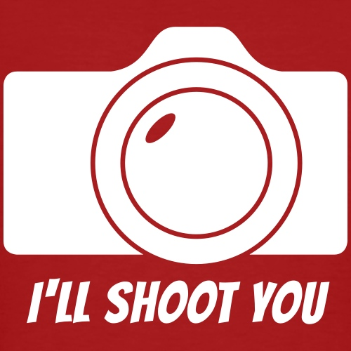 I'll shoot you - Männer Bio-T-Shirt
