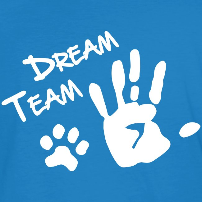 Vorschau: Dream Team Hand Hundpfote - Männer Bio-T-Shirt