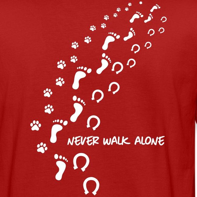 Vorschau: never walk alone hund pferd - Männer Bio-T-Shirt