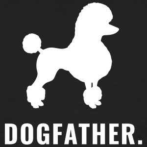 Pudel - Dogfather - Männer Bio-T-Shirt