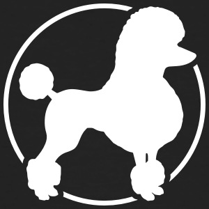 Poodle silhouette in circle - Men's Organic T-shirt