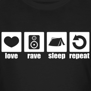 Love rave sleep repeat - Men's Organic T-shirt