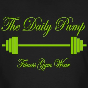 The Daily Pump Barbell - Mannen Bio-T-shirt