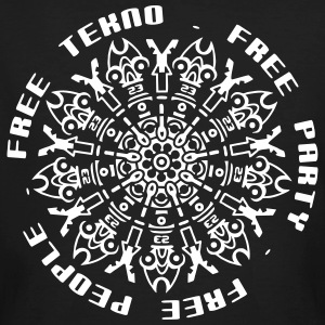 free tekno free party free people - Männer Bio-T-Shirt