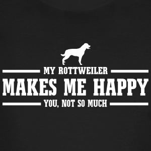 ROTTWEILER makes me happy - Men's Organic T-shirt