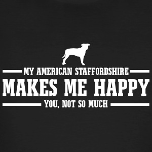 AMERICAN STAFFORDSHIRE makes me happy - Männer Bio-T-Shirt