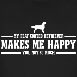FLAT COATED RETRIEVER makes me happy - Männer Bio-T-Shirt