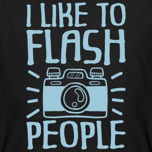 I Like to Flash People fotograaf - Mannen Bio-T-shirt