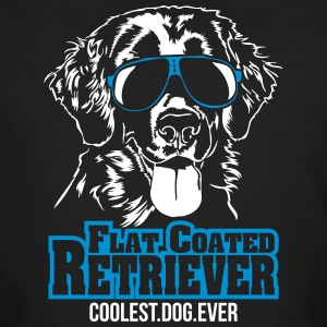 PLAT COUCHÉ plus cool chien RETRIEVER - T-shirt bio Homme
