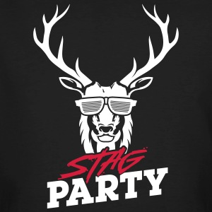 Stag Party - White Design - Men's Organic T-shirt