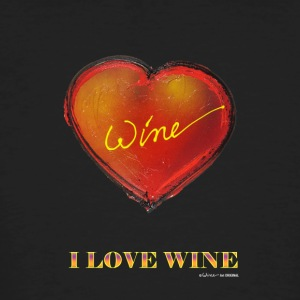 HART I LOVE WINE - Mannen Bio-T-shirt
